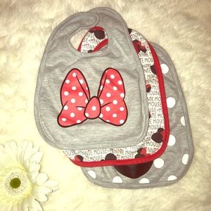 Other - 🌹Mickey Mouse 3 Set of Bibs Girl🌹